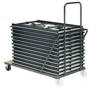 Chariot table en acier - Capacité : 10 à 12 tables