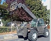 Chariot télescopique occasion 17 m - Capacité de levage : 4000 kg -  Mât : Télescopique
