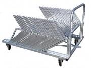 Chariot transport de haies scolaires - Matière : Métal galvanisé / Capacité : 20 ou 40 haies