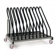 Chariot transport et stockage de cadres à roues pivotantes - CIEMME Type TRANSIT YA