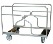 Chariot transportable table rondes ou rectangulaires - Dimensions plateau :1200 x 800 x 945 mm