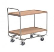 Chariots à 2 plateaux en aluminium - Capacité de charge : 200 kg