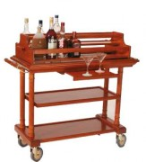 Chariots à alcool en bois - Dimensions (L x I x h) : 825 x 525 x 1070 mm