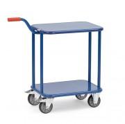 Chariots à col de cygne en tôle d'acier - Charge (Kg) : 250