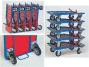 Chariots empilable - Stockage des chariots en horizontale et verticale