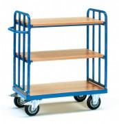 Chariots hauts à 3 plateaux - Charge (Kg) : 400 - 500