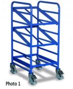 Chariots porte bacs plastique - Capacité de charge (kg) : 150 - 200 - 250