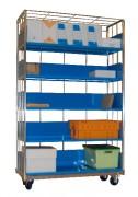 Chariots pour boîtes à archives - 5 niveaux de stockage
