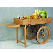 Charrette présentoir fruits et légumes - Dimensions (cm) : 73 x 60 x 211