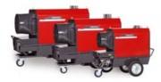 Chauffage mobile avec brûleur séparé - À ventilateur axial ou radial