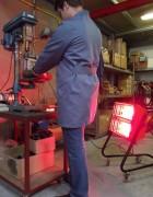 Chauffage radiant infrarouge mobile - Puissance : 1500/3000 W - Léger et peu encombrant