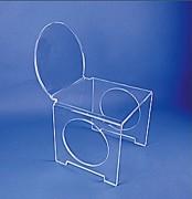 Chauffeuse plexiglas - Assise 45 x 45 cm - Ht 40 cm - Ht totale 76 cm