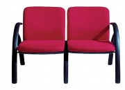 Chauffeuse pour salle d'attente - Longueur : 1 place 64 cm - 2 places 122 cm