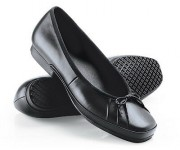 Chaussure ballerine - Ballerine en cuir hydrorésistant