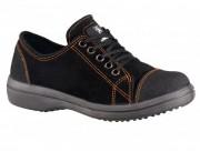Chaussure de sécurité femme en cuir velours - Voûte plantaire anatomique - Modèle bas