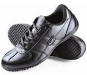 Chaussure de travail à lacet - Pour femme - Noir - Cuir