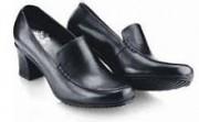 Chaussure de travail femme - Type traditionnel en cuir - caoutchouc