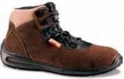 Chaussure haute de travail en cuir de velours - Pointure : De 35 à 48