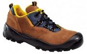 Chaussures basses de sécurité antistatique - Matière : Croûtes de velours - Coloris : Ambre
