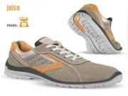 Chaussures de sécurité basses en velours pointure 39 à 47 - Matière : Cuir croute velours souple - Pointure : 39 à 47