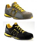 Chaussures de sécurité basses Noir ou Poussière - Matière : Peau velours - Coloris : Noir ou Poussière