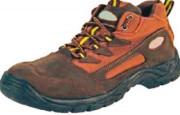 Chaussures de sécurité en daim - Matière : Daim - Coloris : Marron/terre de sienne