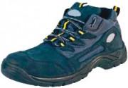 Chaussures de travail style randonneur - Matière : Daim - Coloris : Noir et Gris