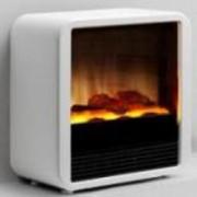Cheminée électrique deco à feu de bois - CUBE - 2000 W - Dim: 26x47x49