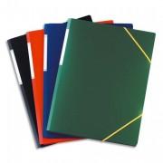 Chemise 3 rabats et élastique format A3, coloris assortis, en polypropylène 7/10e - Elba
