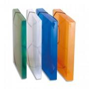 Chemise 3 rabats et élastique Hawaï, dos formé 4 cm, polypropylène translucide 7/10e incolore - Elba