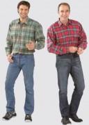 Chemise à carreaux en flanelle pour homme