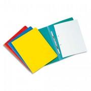 Chemise à lamelles et compresseur, capacité 350 feuilles perforées, carte lustrée coloris jaune - Exacompta