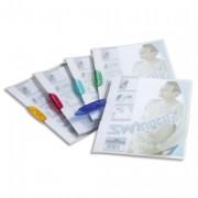 Chemise de présentation à clip bleu SWINGCLIP, couverture semi-transparente, capacité 30 feuilles - Durable