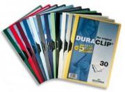 Chemise de présentation à clip DURACLIP. Capacité 30 feuilles. Coloris rouge. - Durable