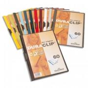 Chemise de présentation à clip DURACLIP. Capacité 60 feuilles. Coloris rouge. - Durable