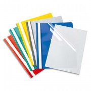 Chemise de présentation à lamelles en PVC vert - Durable
