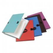 Chemise extensible 223500, recouverte de papier contrecollé bleu - Exacompta