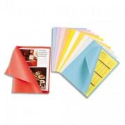 Chemise papier 60g paquet de 50 coloris assortis - Rainex