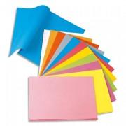 Chemise papier 80g paquet de 100 Teintes vives - Rainex - coloris assortis