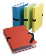 Chemise papier extensible - Fermeture par sangle noire - Exacompta - coloris assortis