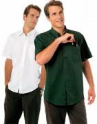Chemise personnalisée manches courtes en coton - Chemise homme manches courtes en twill