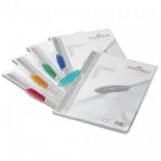 Chemise présentation clip turquoise SWINGCLIP, couverture semi-transparente, capacité 30 feuilles - Durable