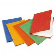 Chemise simple à élastique Topfile, en carte lustrée 5/10e rouge - Elba