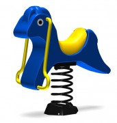 Cheval sur ressort pour aire de jeux - Dimensions (L x l x H) mm : 874 x 668 x 752