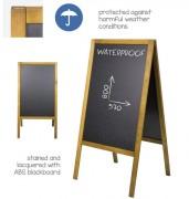 Chevalet ardoise extérieur - Waterproof - Dimensions (L x h) : 61 x 118 cm
