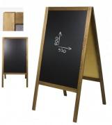 Chevalet ardoise menu de sol - Double face - Dimensions (Lxh) : 560x1700 mm