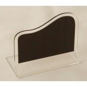Chevalet ardoisine de table transparent - Dimensions : 6 x 5.5 cm - 7 x 6.5 cm