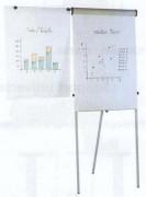 Chevalet de conférence magnétique 104 x 68 cm - Dimensions du panneau de fond (H x l) : 104 x 68 cm