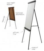 Chevalet de conférence magnétique 700 x 1030 mm - Dimension (Lxh) : 700 x 1030 mm