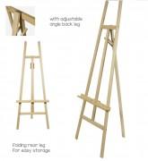 Chevalet de sol pour tableaux - Dimensions : l 580 x H 1560 mm  - Fabriqué en bois